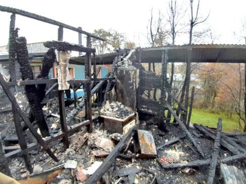 100% de pérdidas causó el fuego en un quincho familiar