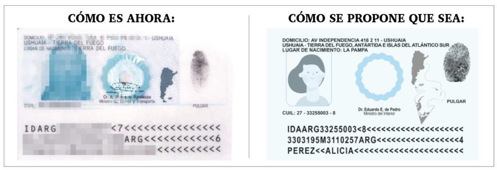 DNI: se promueve que incluya el mapa de todo el territorio argentino y el de Tierra del Fuego en su totalidad