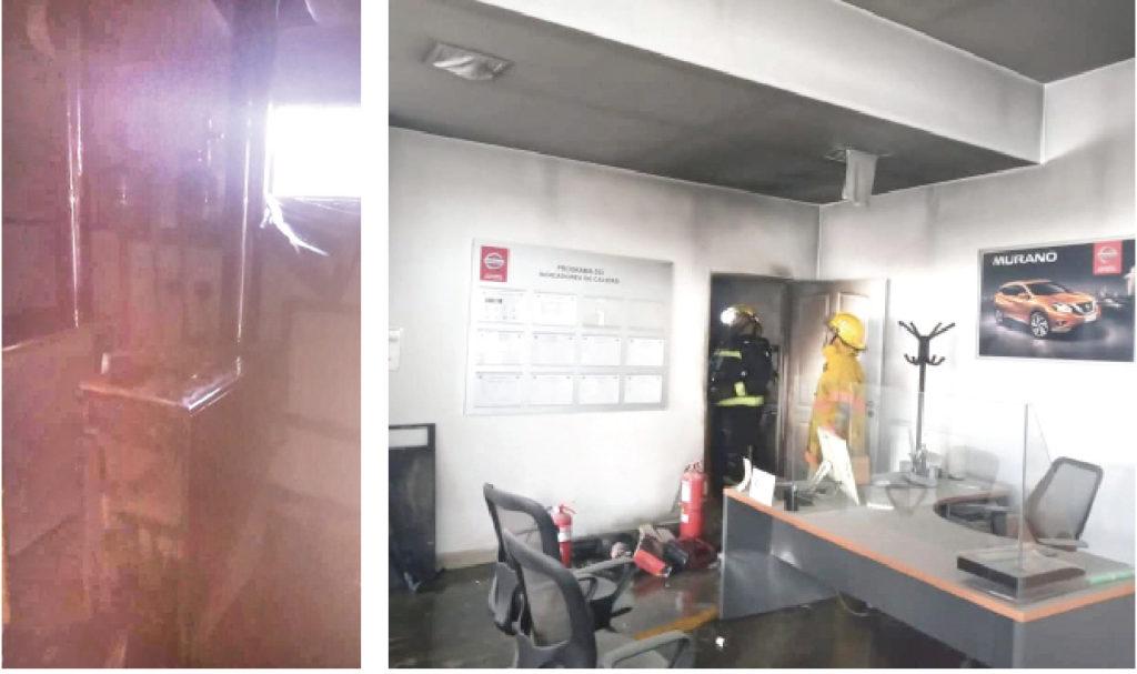 Explotó una caldera en una agencia de autos