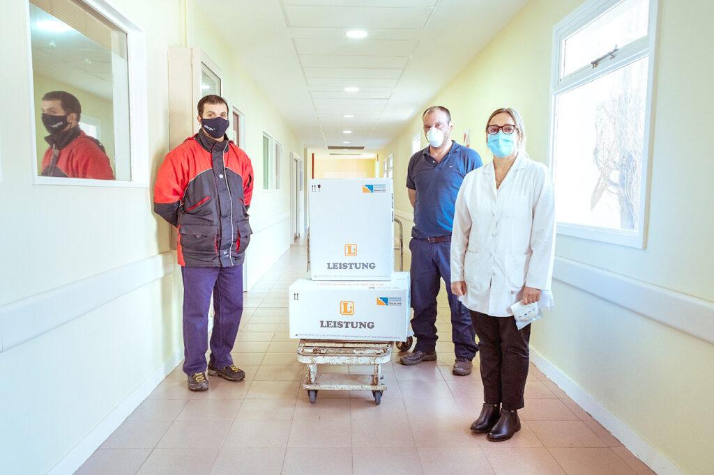 Trabajadores de Mirgor donaron un respirador artificial fabricado en TDF