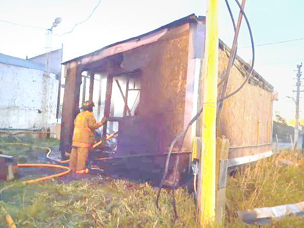 Fue incendiada intencionalmente una vivienda