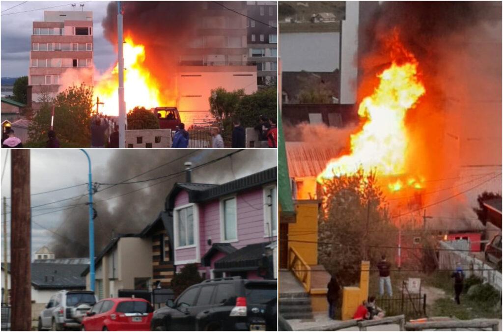Una casa destruída y dos con pérdidas casi totales, a causa de una falla eléctrica