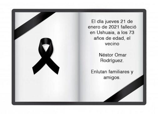 Fallecimiento   Néstor Omar Rodríguez