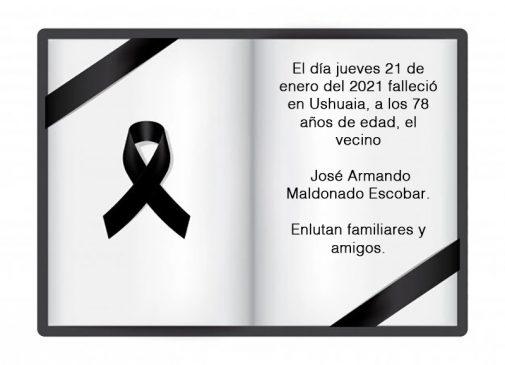 Fallecimiento   José Armando Maldonado Escobar