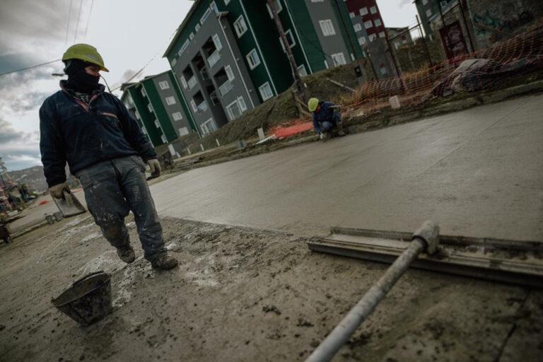 Ushuaia: Concluye el hormigonado de la calle Formosa
