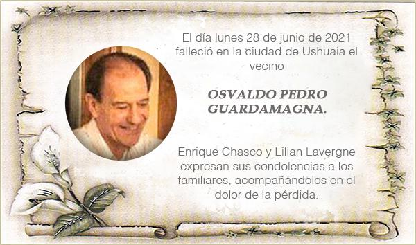 Condolencias por el fallecimiento de OSVALDO PEDRO GUARDAMAGNA.