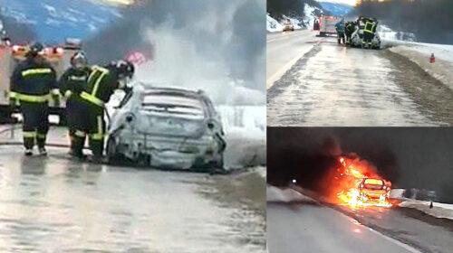 100% de pérdidas arroja incendio de un vehículo de alta gama
